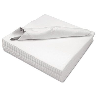 Cascades N695 Signature Linen Replacement Napkins / Guest Towels, 1 Ply, White - 1000 / Case