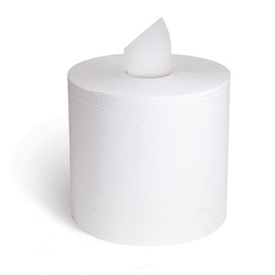 "Cascades H150 Select Center Pull Paper Hand Towels, 2 Ply, 11"" x 7-5/16"", 600 / Roll, White - 6 / Case"