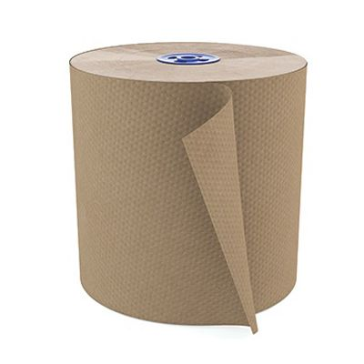 "Cascades T115 Perform Hardwound Paper Roll Towels for Tandem, 7.75"" x 775', Brown - 6 / Case"