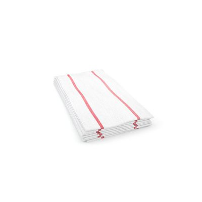 """Cascades W910 Tuff-Job Durable Foodservice Towels, 12.25"""" x 24"""", White / Red Stripe - 150 / Case"""