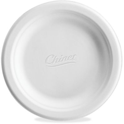 "Huhtamaki VACATE Chinet 6"" Paper Plates, White - 1000 / Case"