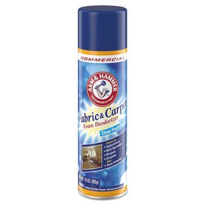 Arm & Hammer 3320000514 Fabric & Carpet Foam Deodorizer, Fresh Scent, 15 oz Aerosol Can - 8 / Case