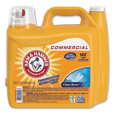 Church & Dwight 3320000556 Arm & Hammer Laundry Detergent Liquid, HE, Clean Burst Scent, 213 oz Bottle - 2 / Case