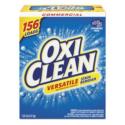 OxiClean 5703700069 Commercial Versatile Laundry Stain Remover, Regular Scent, 7.22 Lb Box - 4 / Case
