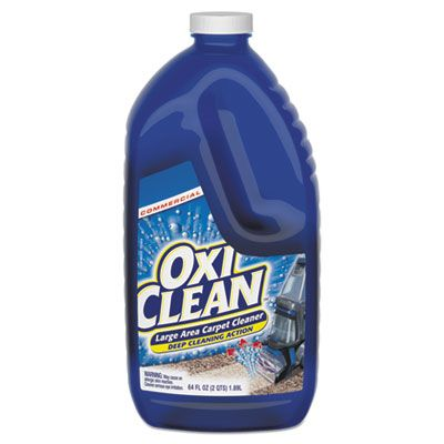 OxiClean 5703700079 Large Area Carpet Machine Cleaner, Liquid, 64 oz Bottle, 4 / Case