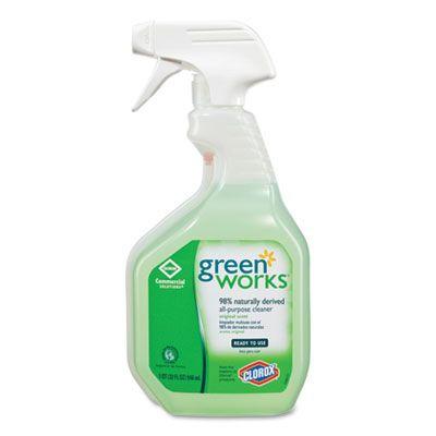 Clorox 456 Green Works All Purpose Cleaner, 32 oz Spray Bottle - 12 / Case