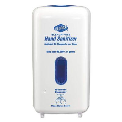 """Clorox 30242 No-Touch Hand Sanitizer Dispenser, 13.13"""" x 7.25"""" x 5"""", 1000 ml, White - 4 / Case"""
