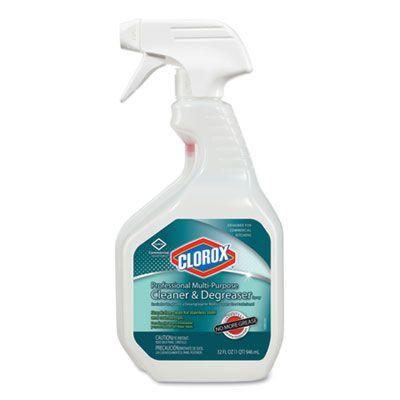 Clorox 30865 Professional Multi-Purpose Cleaner & Degreaser, 32 oz Spray Bottle - 9 / Case