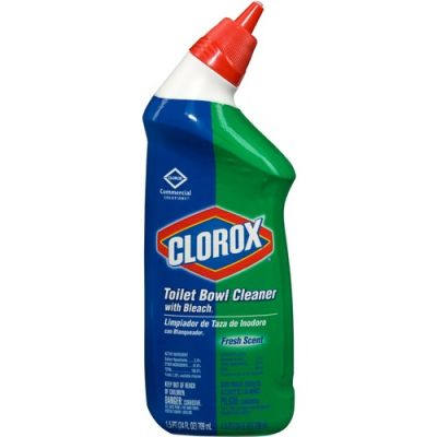 Clorox 31 Toilet Bowl Cleaner with Bleach, Fresh Scent, 24 oz Bottle - 12 / Case