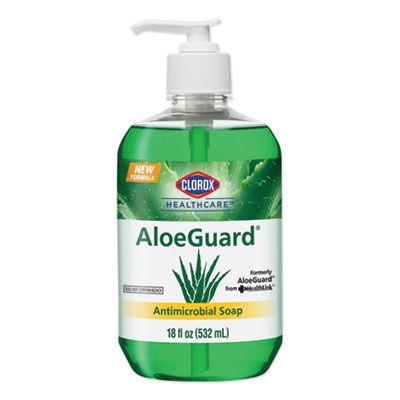Clorox 32378 Healthcare AloeGuard Antimicrobial Soap, Aloe Scent, 18 oz Pump Bottle - 12 / Case