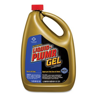 Clorox 35286 Liquid-Plumr Gel Drain Clog Remover, 80 oz Bottle - 6 / Case