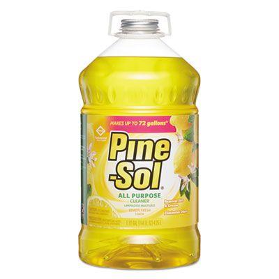 Clorox 35419 Pine-Sol All Purpose Cleaner, Lemon Fresh Scent, 144 oz Bottle - 3 / Case