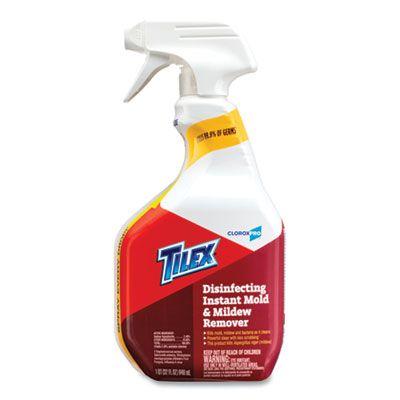 Clorox 35600 Tilex Disinfecting Instant Mold & Mildew Remover Spray, 32 oz Bottle - 9 / Case