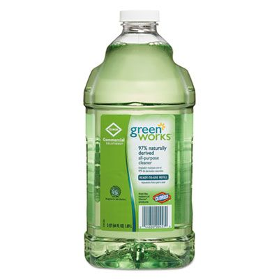 Clorox 457 Green Works All Purpose and Multi-Surface Cleaner, 64 oz Refill Bottle - 6 / Case