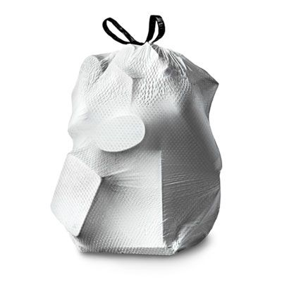 Clorox 70320 13 Gallon Glad ForceFlexPlus Tall Kitchen Drawstring Trash Bags, 0.82 Mil, White - 204 / Case