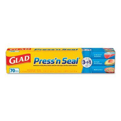 "Clorox 70441 Glad Press'N Seal Food Plastic Wrap, 11-7/8"" x 70' - 12 / Case"