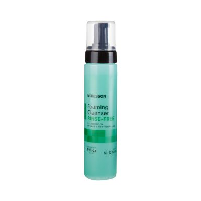 McKesson 53-22952-9 Foaming Rinse-Free Body Wash / Perineal Cleanser, Cucumber Melon Scent, 9 oz Pump Bottle - 12 / Case