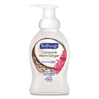 Colgate 96985 Softsoap Foaming Hand Soap, Coconut & Warm Ginger Scent, 8.75 oz Pump Bottle - 6 / Case