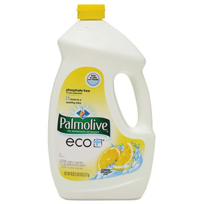 Colgate-Palmolive 47805 Palmolive Automatic Dishwasher Gel, Lemon, 45 oz Bottle - 9 / Case