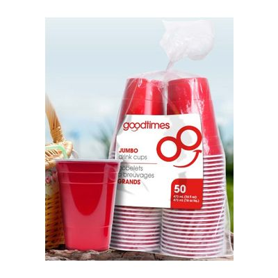 Cowling & Braithwaite Co GO351 Goodtimes 16 oz Plastic Party Cups, Red - 600 / Case