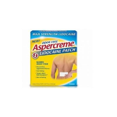 Aspercreme 04116705840 Topical Pain Relief 4% Strength Lidocaine Patch - 5 / Case