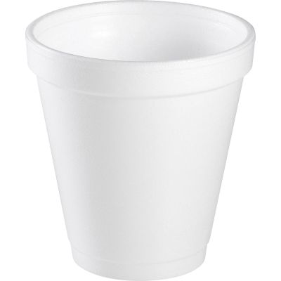 Dart 10J10 10 oz Foam Hot / Cold Cups, White - 1000 / Case