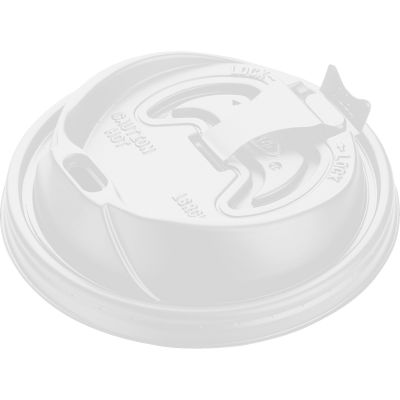 Dart 16RCL Lids for 12-24 oz Hot Cups Ending in 16, Reclosable, White - 1000 / Case