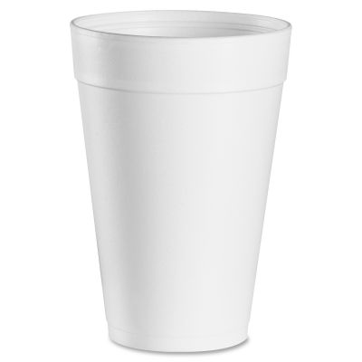 Dart 32TJ32 Big Drink 32 oz Foam Cups, White - 500 / Case