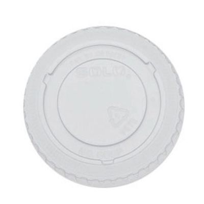 Dart Solo 605TP Plastic Lids for 5 oz Conex Galaxy Cups, No Hole, Clear - 2500 / Case