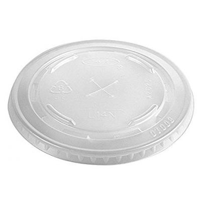 Dart Solo 695TS Straw Slot Plastic Lids for 12-14 oz Conex Cold Cups, Clear - 1000 / Case