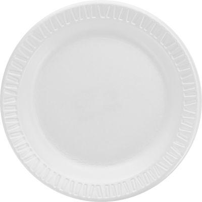 """Dart 6PWQR 6"""" Foam Plates, White - 1000 / Case"""