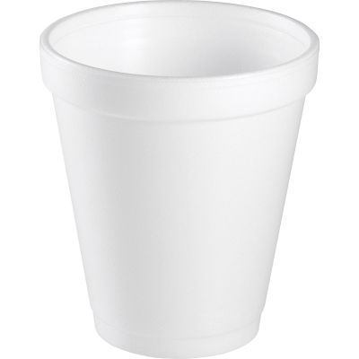 Dart 8J8 8 oz Foam Hot / Cold Cups, White - 1000 / Case
