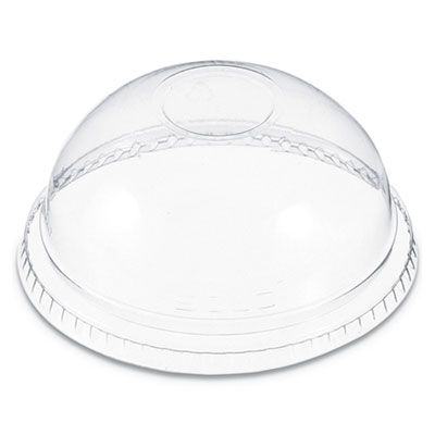 Dart DNR662 Plastic Dome Lid, No Hole, For 9-22 oz Cups, PET, Clear - 1000 / Case