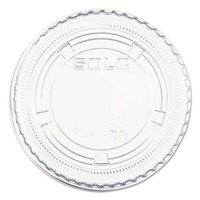 Dart Solo PL200N Plastic Lid for select* Dart Solo 1.5 oz, 2 oz, 2.5 oz Portion / Souffle Cups, PET, Clear - 2500 / Case