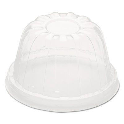 Dart Solo 12HDLC D-T Plastic Lids for Sundae / Foam Cups, Clear - 1000 / Case
