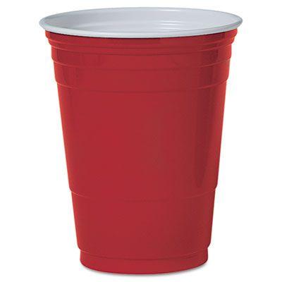 Dart Solo P16R 16 oz Plastic Party Cold Cups, Red - 1000 / Case
