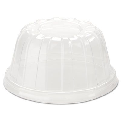 Dart 20HDLC D-T Plastic Lids for Foam 5-32 oz Sundae / Cold Cups, Clear - 1000 / Case
