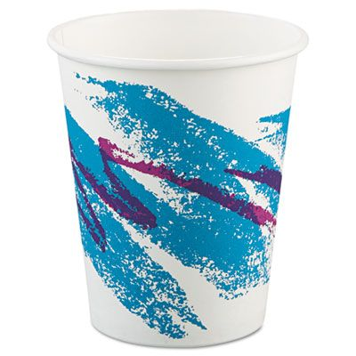 Dart Solo 370JZJ Jazz 10 oz Paper Hot Cups, Poly-Lined - 1000 / Case