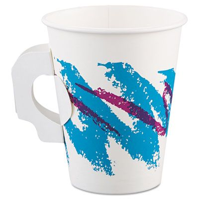 Solo 378HJZ-00055 Jazz 8 oz Paper Coffee Mugs / Hot Cups, Poly-Lined - 1000 / Case