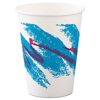 Dart Solo 412JZJ Jazz 12 oz Paper Hot Cups, Poly-Lined - 1000 / Case
