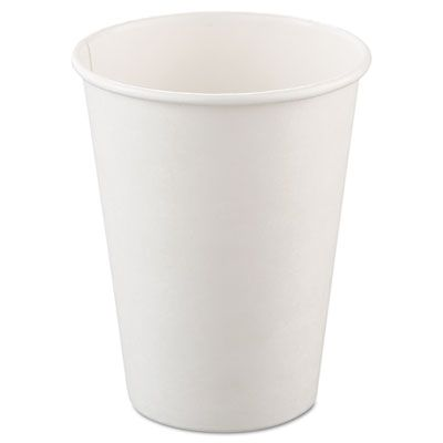 Dart Solo 412WN 12 oz Paper Hot Cup, Poly-Lined, White - 1000 / Case