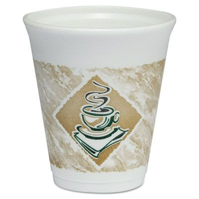 Dart 8X8G ThermoGlaze 8 oz Cafe G Foam Hot / Cold Cups - 1000 / Case