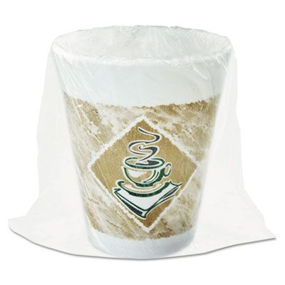Dart 8X8GWRAP 8 oz Cafe G Foam Hot / Cold Cups, Individually Wrapped - 900 / Case