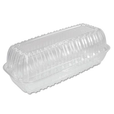 "Dart C99HT1 ClearSeal Plastic Hinged Hoagie Container, 29.9 oz, 5.1"" x 9.9"" x 3.5"", Clear - 200 / Case"