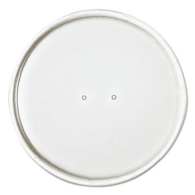 Dart Solo CH16A Paper Lids for 16 oz Flexstyle Food Containers, Vented, White - 500 / Case