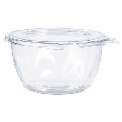 "Dart Solo CTR16BF Platic Tamper-Resistant Bowl Containers, 5-1/2"" x 2-7/10"", Clear - 240 / Case"