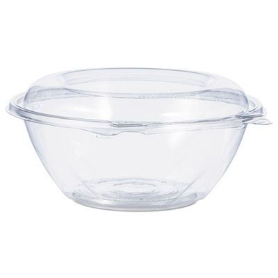 "Dart CTR24BD 24 oz SafeSeal Plastic Tamper-Resistant Bowl Containers, 7"" x 3-1/10"", Clear - 150 / Case"