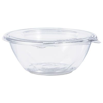 "Dart CTR24BF 24 oz SafeSeal Plastic Tamper-Resistant Bowl Containers, 7"" x 2-1/2"", Clear - 150 / Case"