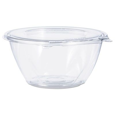 "Dart Solo CTR32BF 32 oz SafeSeal Plastic Tamper-Resistant Bowl Containers, 7"" x 3-1/5"", Clear - 150 / Case"