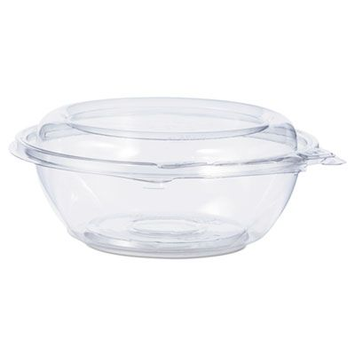 "Dart Solo CTR8BD 8 oz SafeSeal Plastic Tamper-Resistant Bowl Containers, 5-1/2"" x 2-1/10"", Clear - 240 / Case"